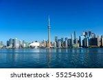 beautiful toronto skyline.... | Shutterstock . vector #552543016