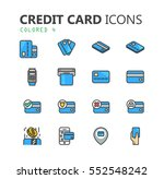 simple modern set of credit... | Shutterstock .eps vector #552548242