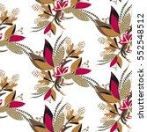 floral seamless pattern. hand... | Shutterstock .eps vector #552548512