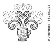 coffee mug with abstract style... | Shutterstock .eps vector #552551716