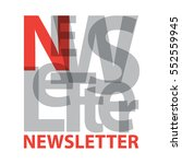 vector newsletter. broken text | Shutterstock .eps vector #552559945