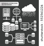 database and network icon set... | Shutterstock .eps vector #552561226