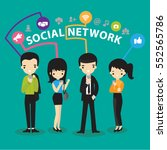 social network and teamwork... | Shutterstock .eps vector #552565786