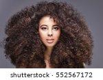 beauty portrait of attractive... | Shutterstock . vector #552567172