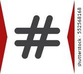 hashtags icon vector flat... | Shutterstock .eps vector #552568168