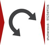 arrow icon vector flat design...   Shutterstock .eps vector #552569536