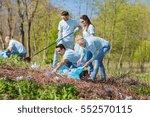 volunteering  charity  cleaning ... | Shutterstock . vector #552570115