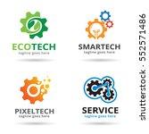 technology logo template design ... | Shutterstock .eps vector #552571486