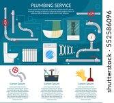 plumbing service repairing... | Shutterstock .eps vector #552586096