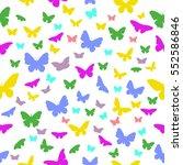 butterflies on a white... | Shutterstock .eps vector #552586846