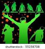 vector dj silhouettes | Shutterstock .eps vector #55258708