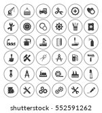 industrial icons set | Shutterstock .eps vector #552591262
