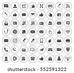 communication icons set | Shutterstock .eps vector #552591322
