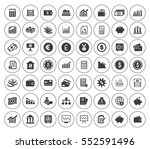 financial icons set | Shutterstock .eps vector #552591496