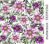 seamless pattern of watercolor...   Shutterstock . vector #552591562