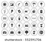 summer icons set | Shutterstock .eps vector #552591706