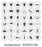 fashion icons set   Shutterstock .eps vector #552591736
