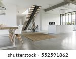 open floor apartment with... | Shutterstock . vector #552591862