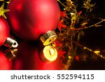 red christmas balls | Shutterstock . vector #552594115
