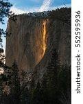 firefall  horsetrail fall in... | Shutterstock . vector #552595936