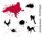 a set of grungy blots for design | Shutterstock .eps vector #55259662
