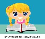 illustration of kid girl... | Shutterstock .eps vector #552598156
