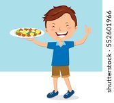 man with salad | Shutterstock .eps vector #552601966