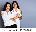 cute pretty teen daughter with... | Shutterstock . vector #552602836