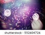 glitter vintage lights...   Shutterstock . vector #552604726
