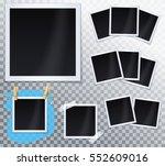 set of photos  frames . vector... | Shutterstock .eps vector #552609016