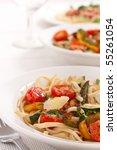 Two Bowls Of Mediterranean Pasta