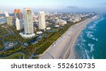 south beach miami florida... | Shutterstock . vector #552610735