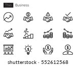 business line vector icons | Shutterstock .eps vector #552612568