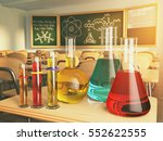 laboratory glassware with... | Shutterstock . vector #552622555