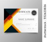 certificate premium template... | Shutterstock .eps vector #552623836