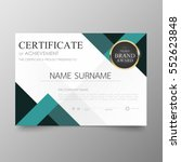 certificate premium template... | Shutterstock .eps vector #552623848
