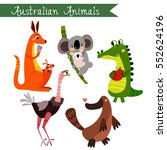 australian animals vector... | Shutterstock .eps vector #552624196