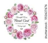 vintage floral greeting card... | Shutterstock . vector #552627676