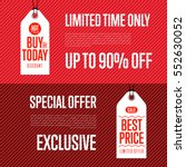 special offer discount banner... | Shutterstock .eps vector #552630052