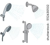 vector set of shower | Shutterstock .eps vector #552630532