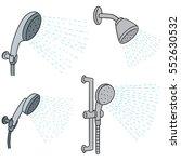 vector set of shower | Shutterstock .eps vector #552630532