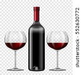 two glasses of red wine and... | Shutterstock .eps vector #552630772