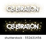 celebration paper banner with... | Shutterstock .eps vector #552631456