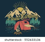 forest camping.adventure ... | Shutterstock .eps vector #552633136
