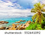 tropical island. the seychelles.... | Shutterstock . vector #552641092