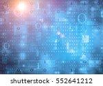 binary data background | Shutterstock . vector #552641212