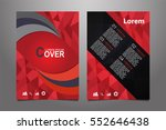 red vector annual report...   Shutterstock .eps vector #552646438