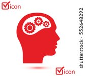 thinking icon.  silhouette of... | Shutterstock .eps vector #552648292