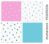 vector set of four patterns. | Shutterstock .eps vector #552650236