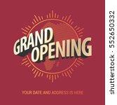 grand opening vector banner.... | Shutterstock .eps vector #552650332